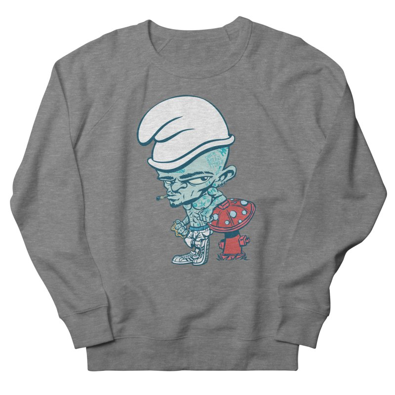 Smurf Men's French Terry Sweatshirt by monoestudio's Artist Shop