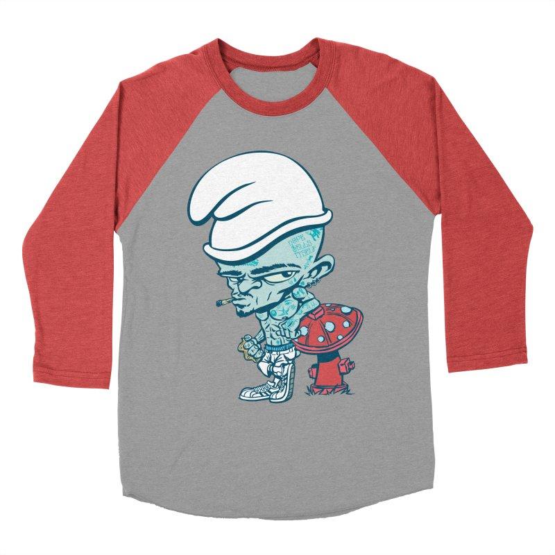 Smurf Men's Baseball Triblend T-Shirt by monoestudio's Artist Shop