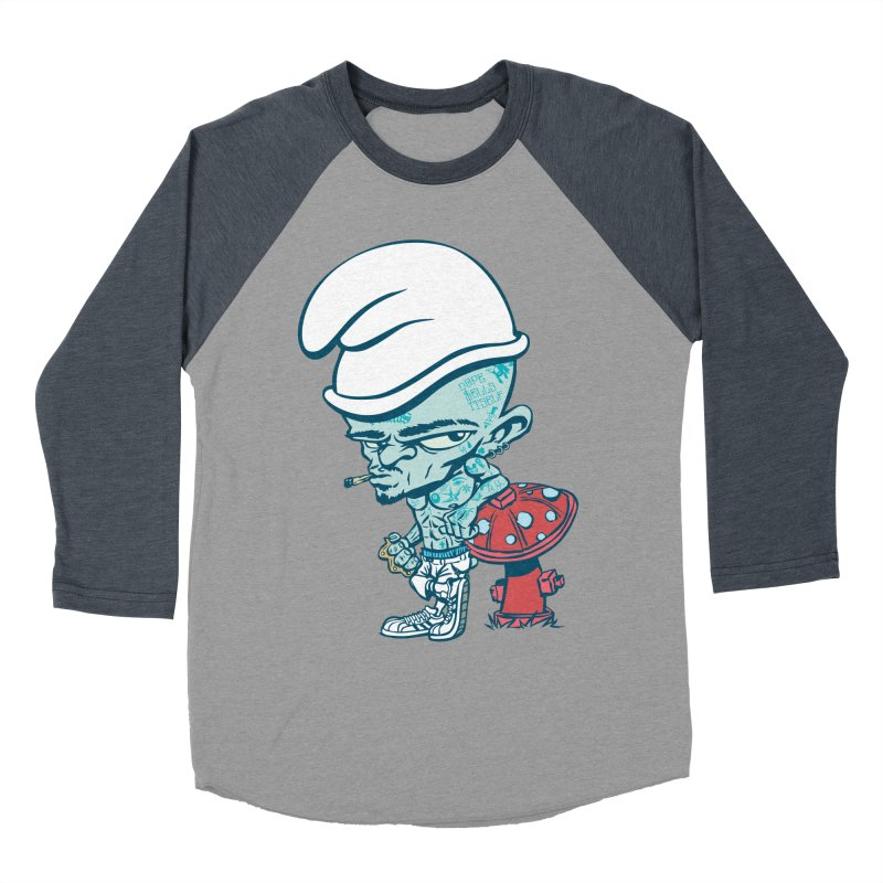 Smurf Men's Baseball Triblend Longsleeve T-Shirt by monoestudio's Artist Shop