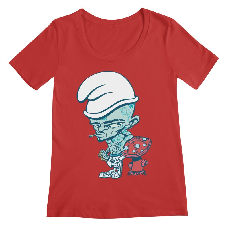 Smurf Women's Regular Scoop Neck by monoestudio's Artist Shop