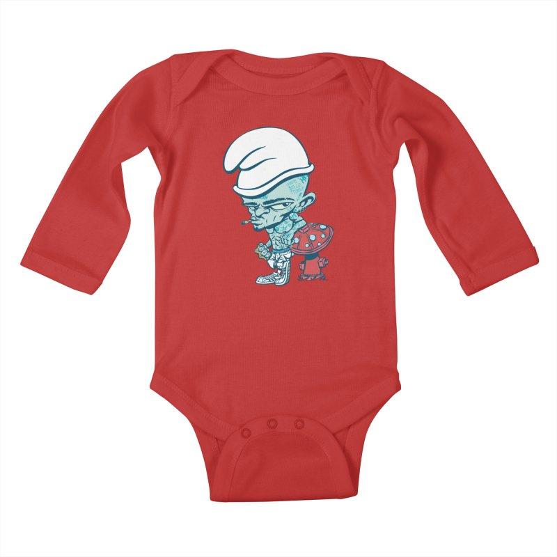 Smurf Kids Baby Longsleeve Bodysuit by monoestudio's Artist Shop