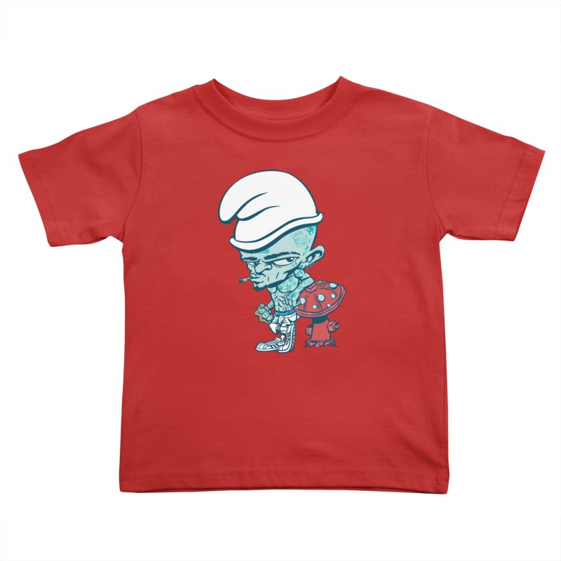 Smurf Kids Toddler T-Shirt by monoestudio's Artist Shop