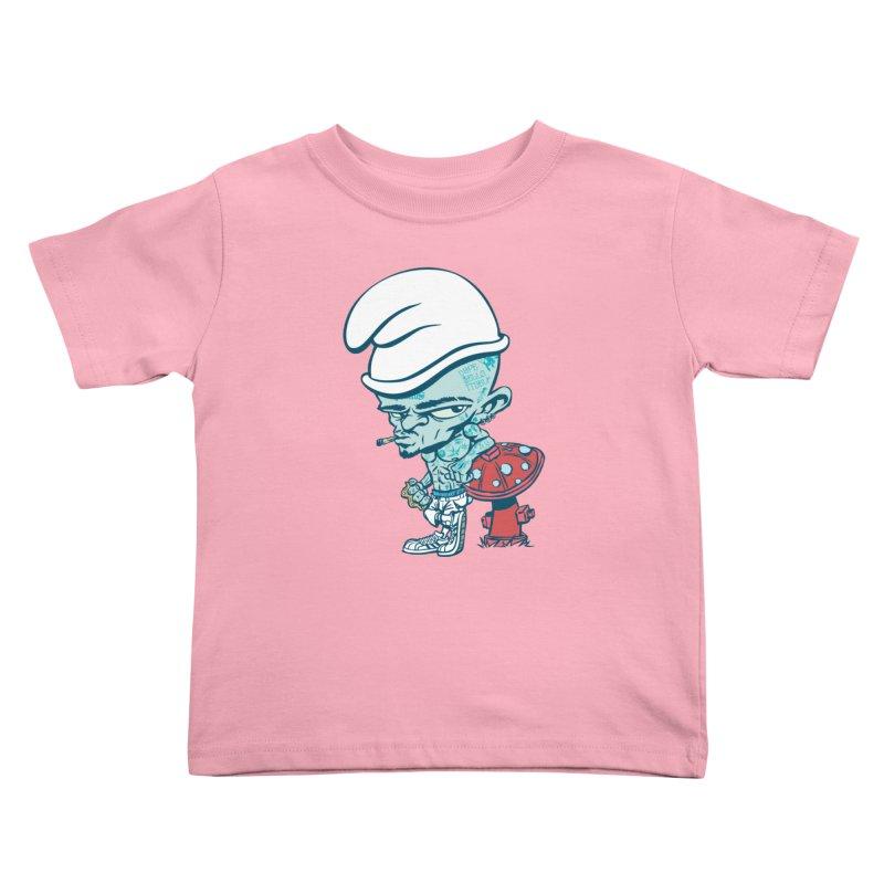 Smurf Kids Toddler T-Shirt by monoestudio's Artist Shop