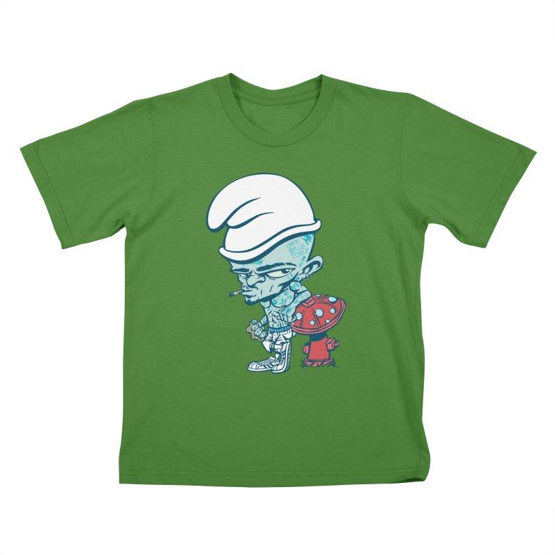 Smurf Kids T-shirt by monoestudio's Artist Shop