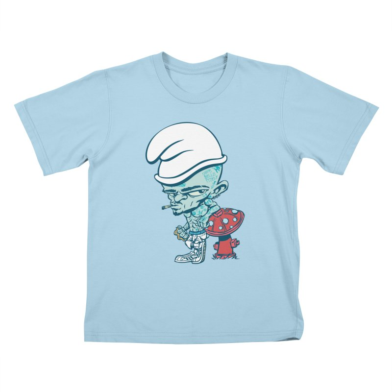 Smurf Kids T-Shirt by monoestudio's Artist Shop