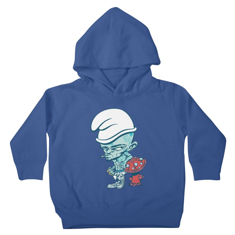 Smurf Kids Toddler Pullover Hoody by monoestudio's Artist Shop