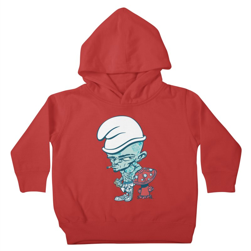 Smurf Kids Toddler Pullover Hoody by monoestudio's Artist Shop