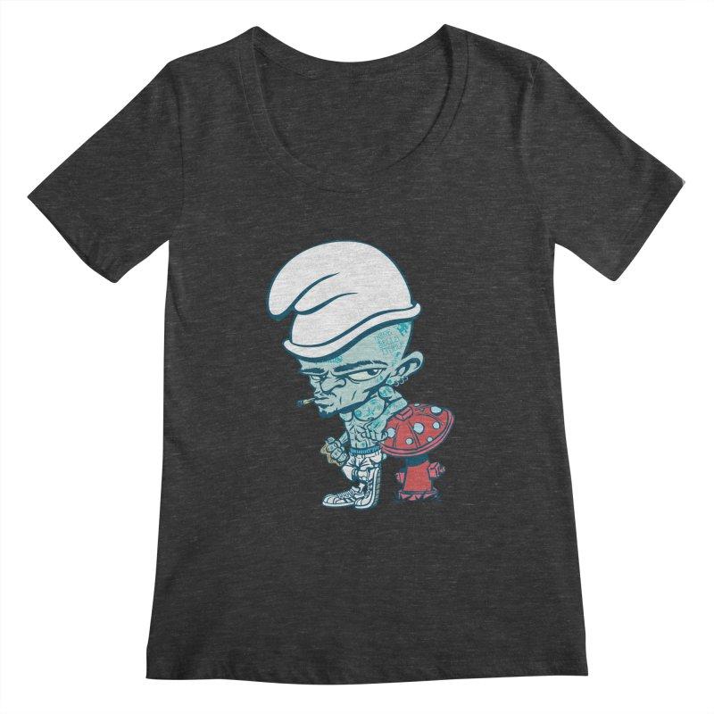 Smurf Women's Scoopneck by monoestudio's Artist Shop
