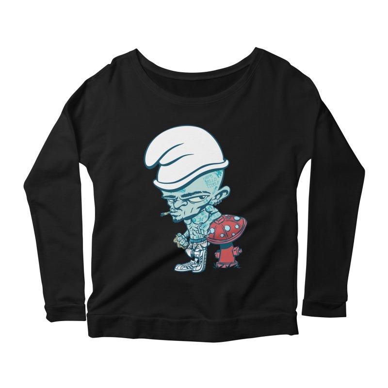 Smurf Women's Longsleeve T-Shirt by monoestudio's Artist Shop
