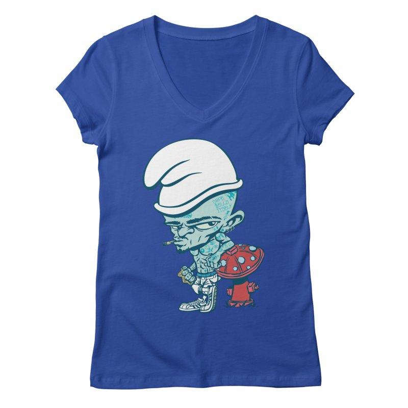 Smurf Women's V-Neck by monoestudio's Artist Shop