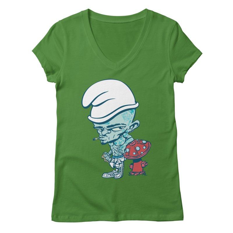Smurf Women's Regular V-Neck by monoestudio's Artist Shop