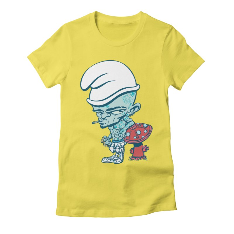 Smurf Women's Fitted T-Shirt by monoestudio's Artist Shop