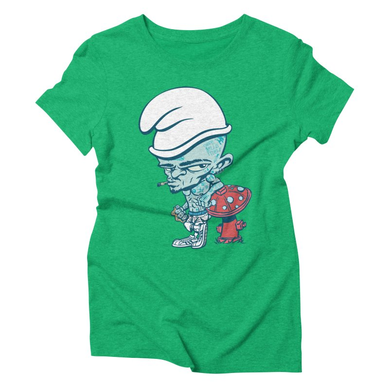 Smurf Women's Triblend T-shirt by monoestudio's Artist Shop