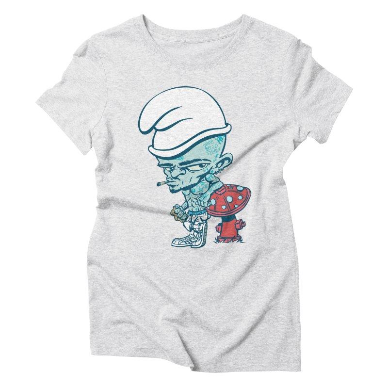 Smurf Women's Triblend T-Shirt by monoestudio's Artist Shop