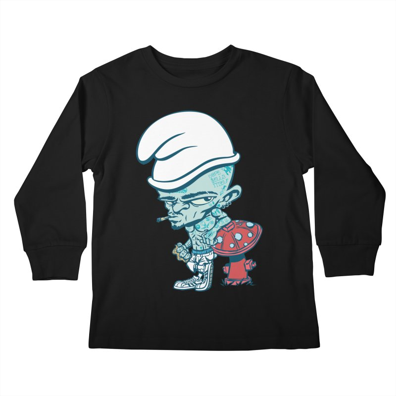 Smurf Kids Longsleeve T-Shirt by monoestudio's Artist Shop