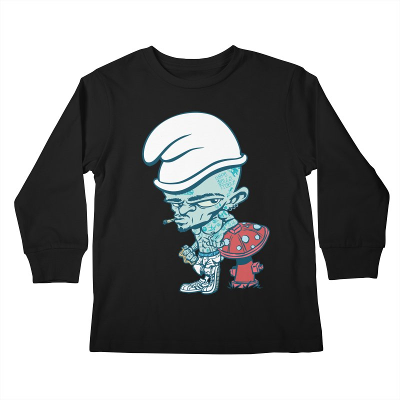 Smurf Kids Longsleeve T-Shirt by monoestudio's Artist Shop