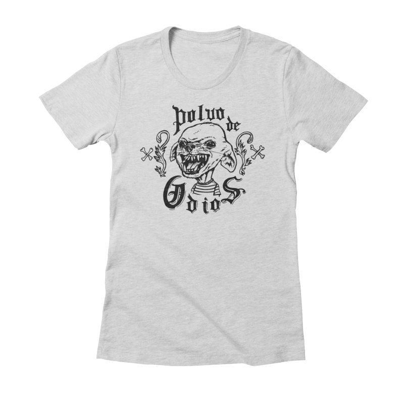 Odio in Women's Fitted T-Shirt Heather Grey by monoestudio's Artist Shop