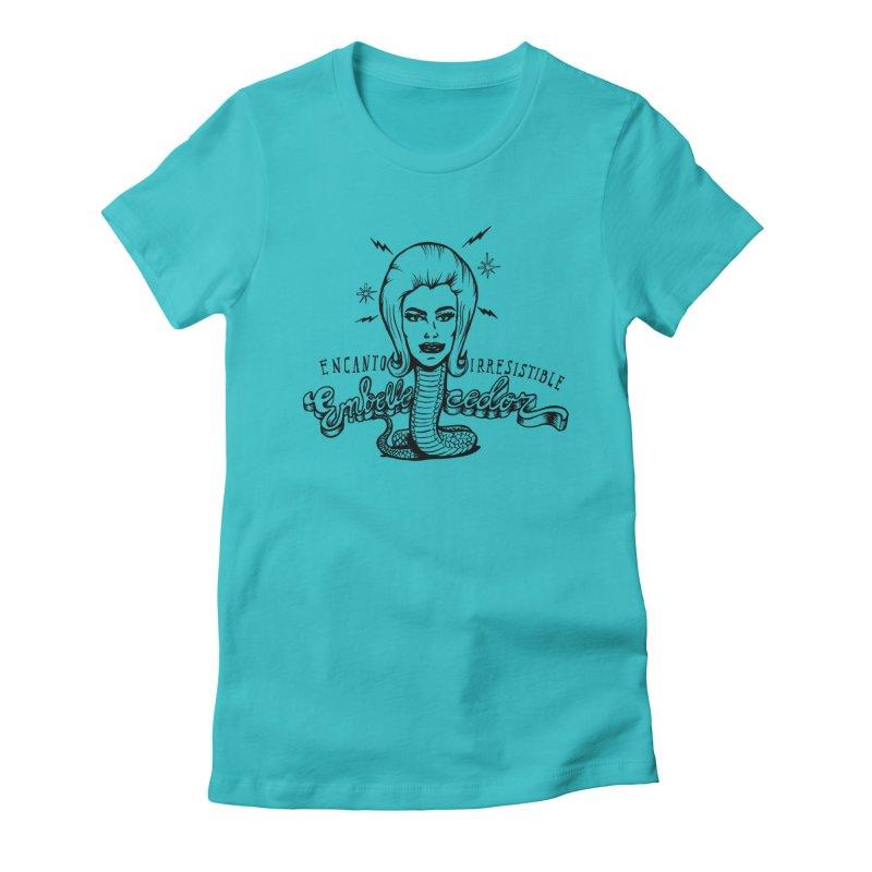 Embellecedor Women's Fitted T-Shirt by monoestudio's Artist Shop