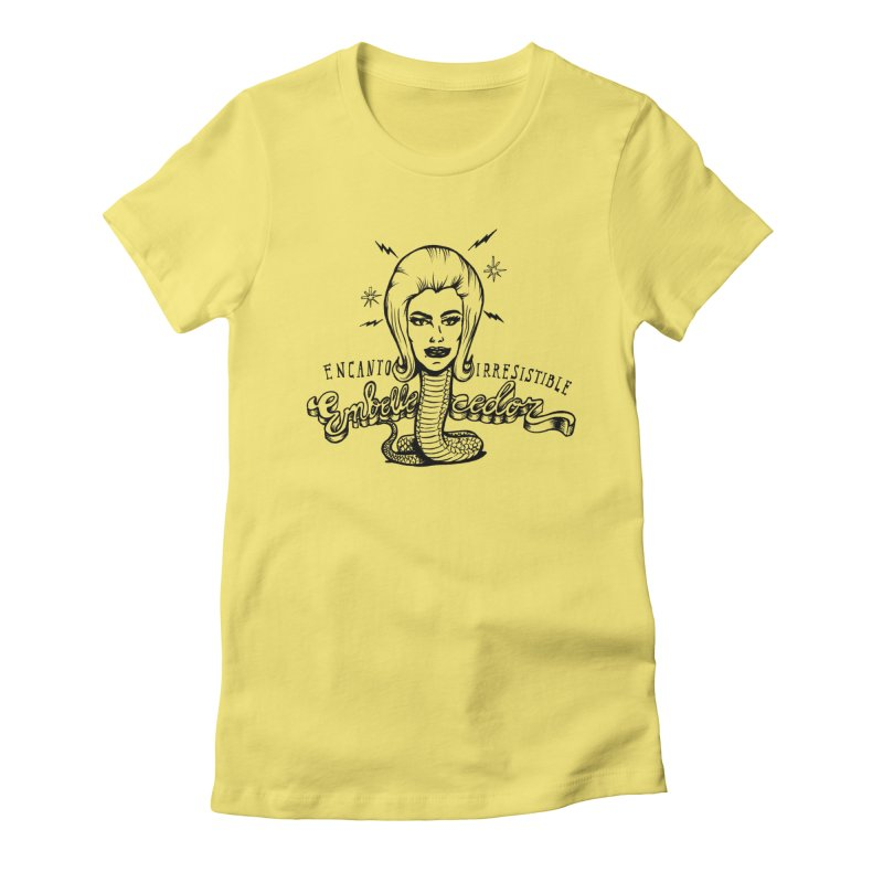 Embellecedor Women's Fitted T-Shirt by monoestudio's Artist Shop