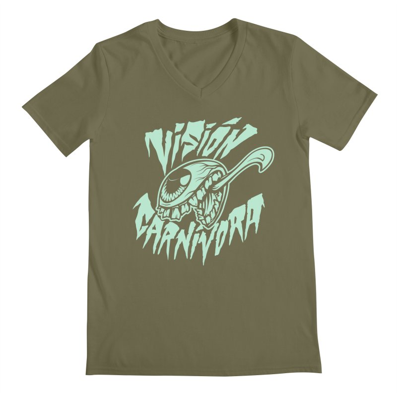 VC logo dark Men's Regular V-Neck by monoestudio's Artist Shop