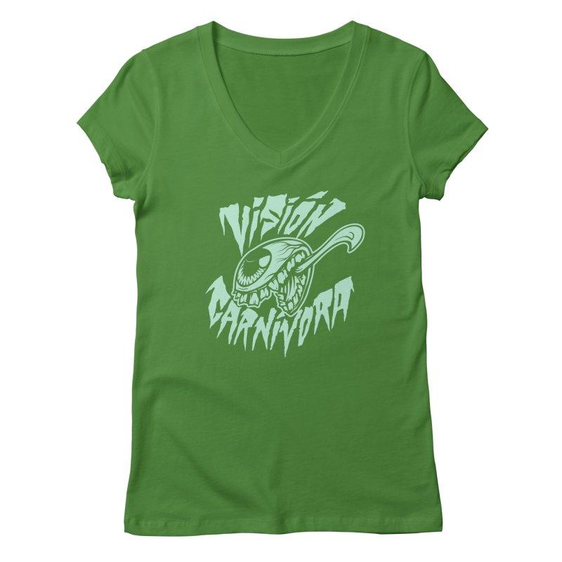 VC logo dark Women's V-Neck by monoestudio's Artist Shop