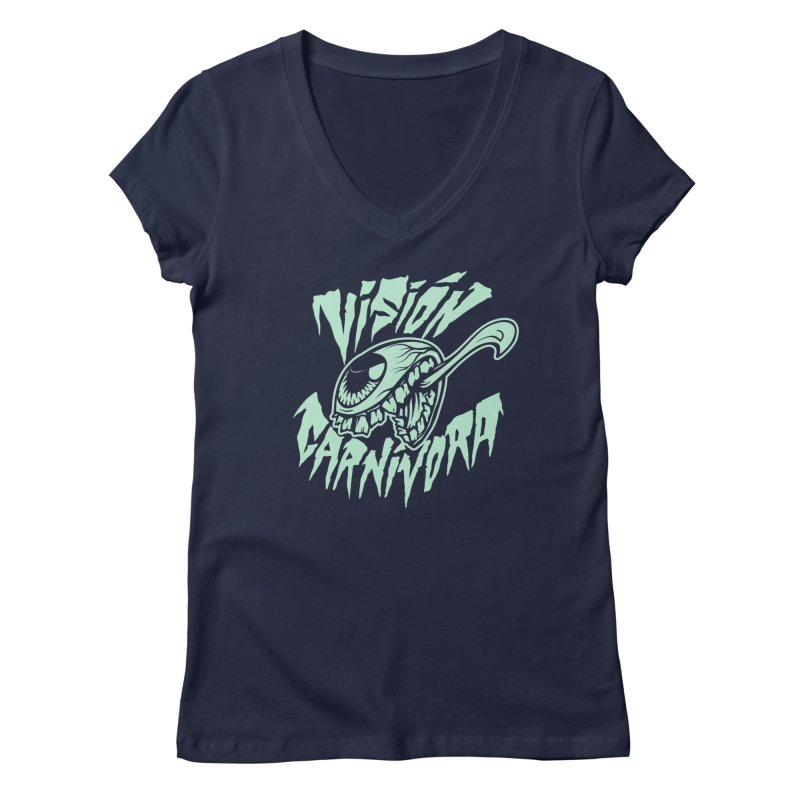 VC logo dark Women's Regular V-Neck by monoestudio's Artist Shop