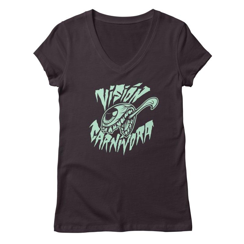 VC logo dark Women's Regular V-Neck by monoestudio's Artist Shop