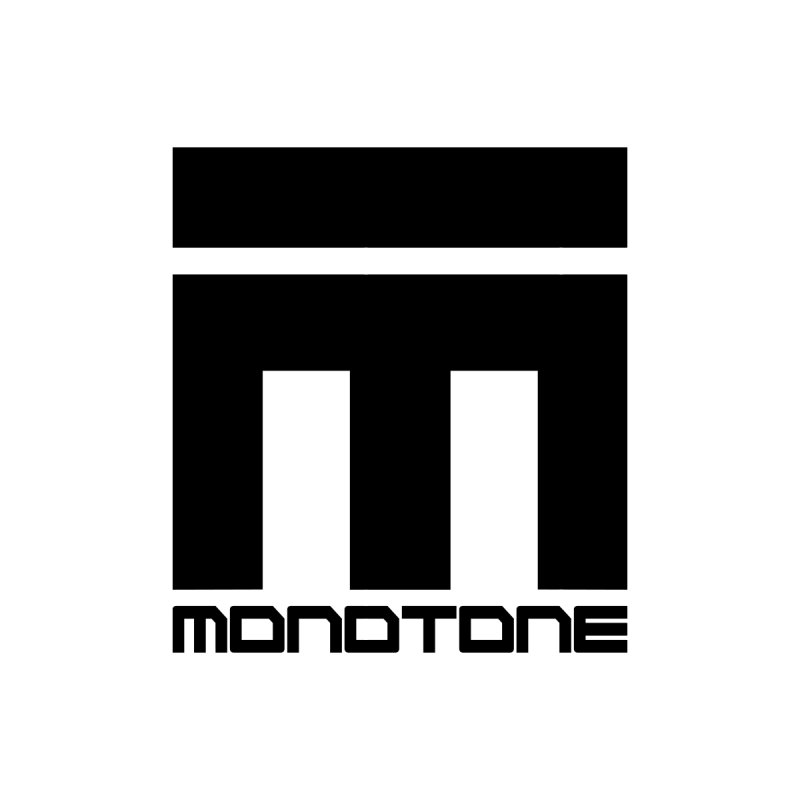 Monotone Logo Black Large Men's T-Shirt by Monotone Apparel