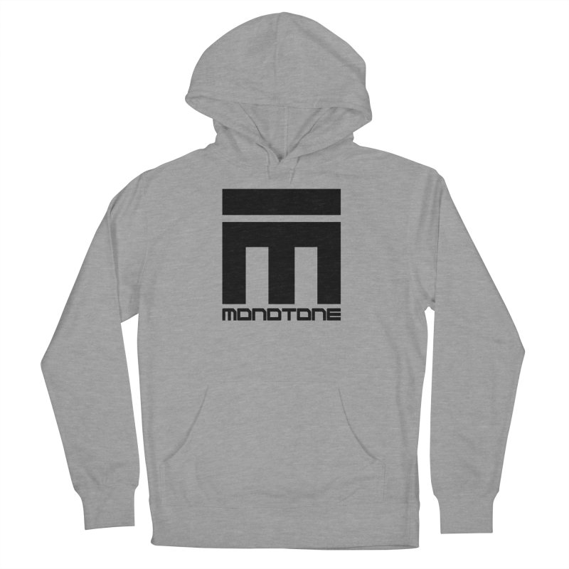 Monotone Logo Black Large Men's Pullover Hoody by Monotone Apparel