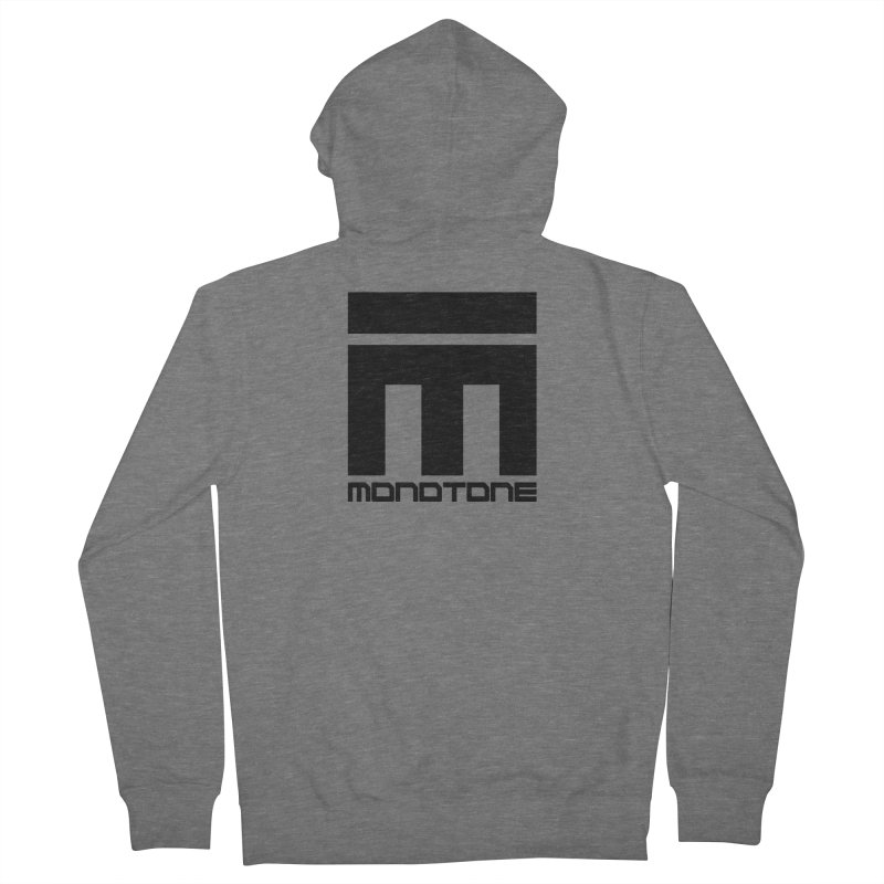 Monotone Logo Black Large Women's French Terry Zip-Up Hoody by Monotone Apparel