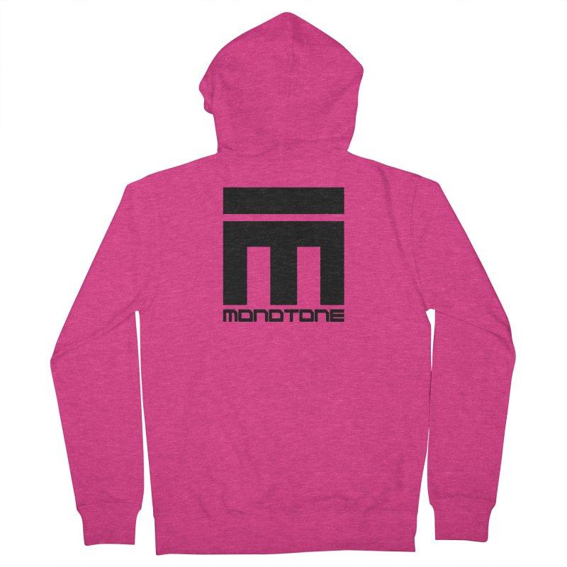 Monotone Logo Black Large Women's Zip-Up Hoody by Monotone Apparel