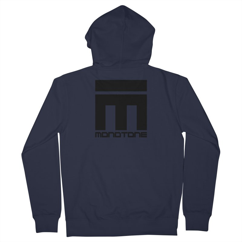 Monotone Logo Black Large Men's Zip-Up Hoody by Monotone Apparel