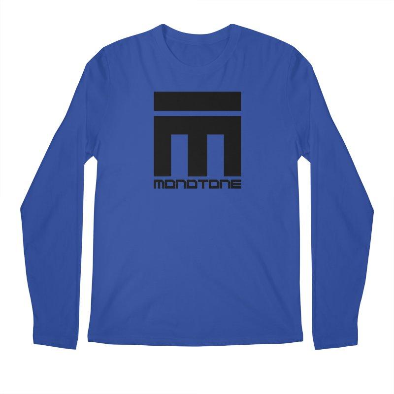 Monotone Logo Black Large Men's Longsleeve T-Shirt by Monotone Apparel