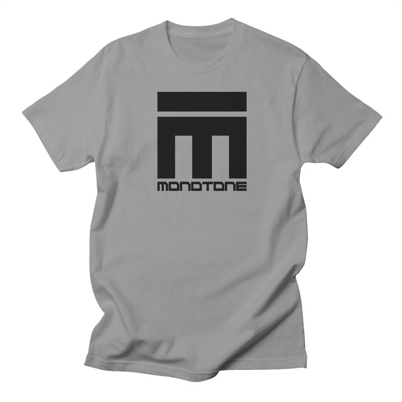 Monotone Logo Black Large Men's Regular T-Shirt by Monotone Apparel