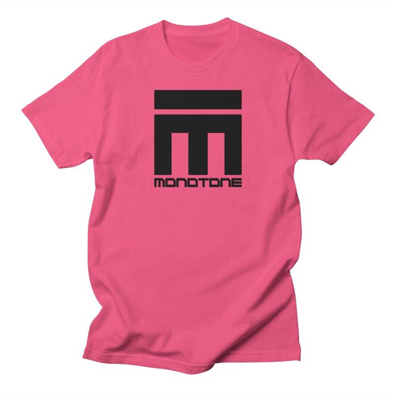 Monotone Logo Black Large Women's Unisex T-Shirt by Monotone Apparel