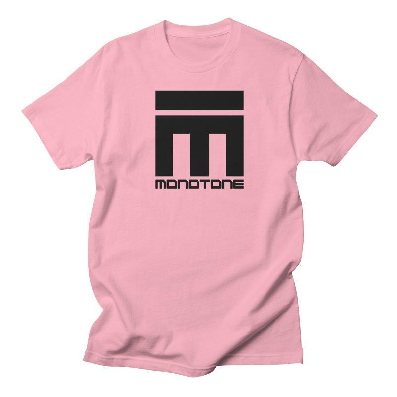 Monotone Logo Black Large Women's Regular Unisex T-Shirt by Monotone Apparel