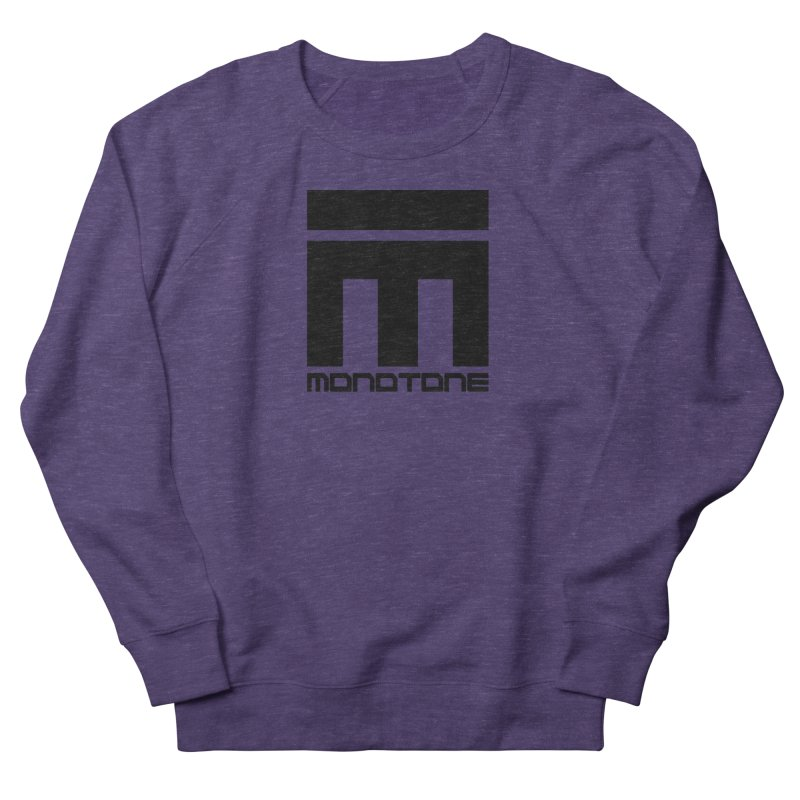 Monotone Logo Black Large Women's French Terry Sweatshirt by Monotone Apparel
