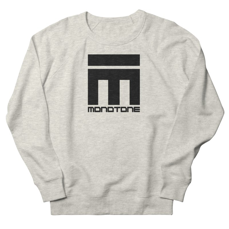 Monotone Logo Black Large Men's French Terry Sweatshirt by Monotone Apparel
