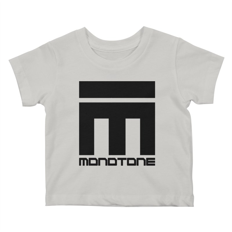 Monotone Logo Black Large Kids Baby T-Shirt by Monotone Apparel