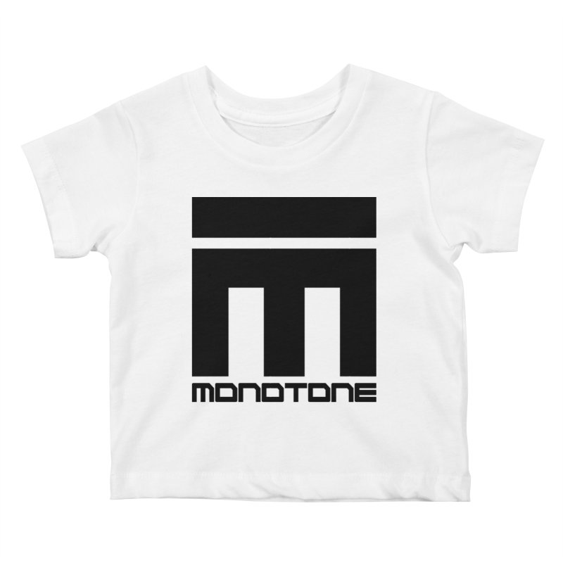 Monotone Logo Black Large Kids Baby T-Shirt by Monotone Apparel