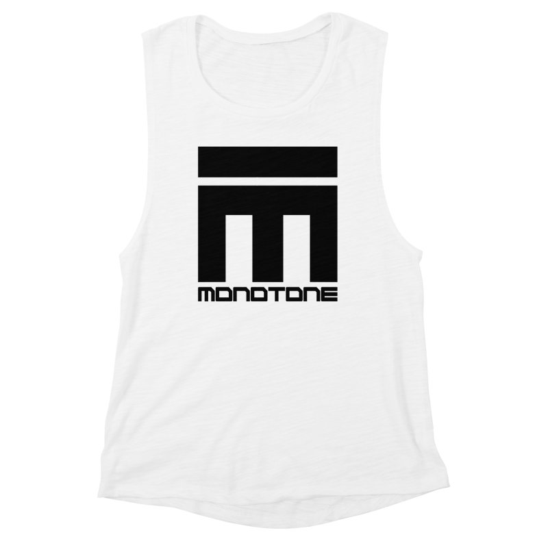 Monotone Logo Black Large Women's Muscle Tank by Monotone Apparel