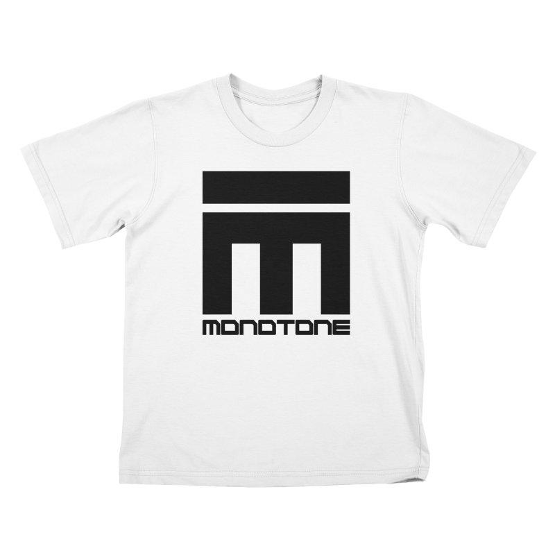 Monotone Logo Black Large Kids T-Shirt by Monotone Apparel