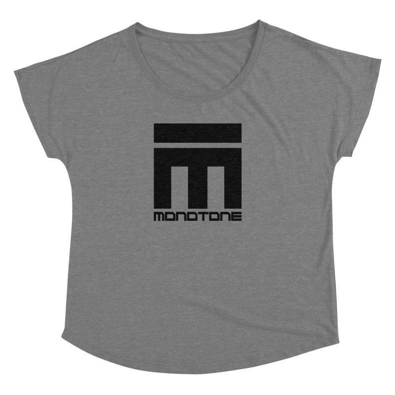 Monotone Logo Black Large Women's Dolman by Monotone Apparel