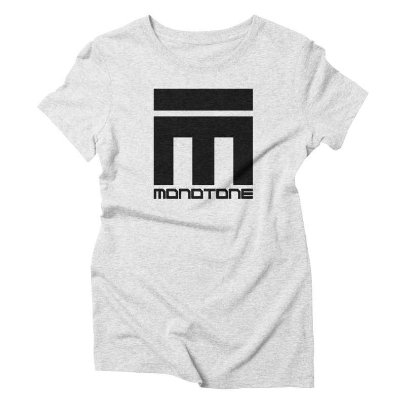 Monotone Logo Black Large Women's Triblend T-Shirt by Monotone Apparel