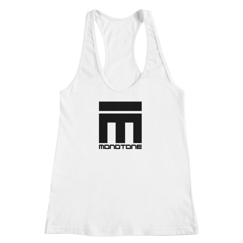 Monotone Logo Black Large Women's Racerback Tank by Monotone Apparel