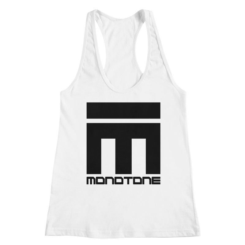 Monotone Logo Black Large Women's Racerback Tank by Monotone Apparel
