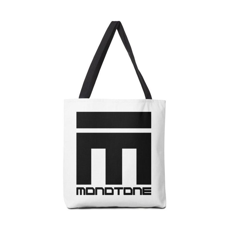 Monotone Logo Black Large Accessories Bag by Monotone Apparel