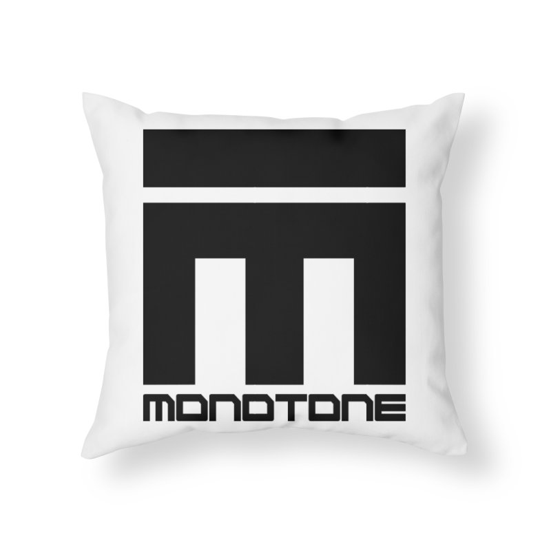 Monotone Logo Black Large Home Throw Pillow by Monotone Apparel