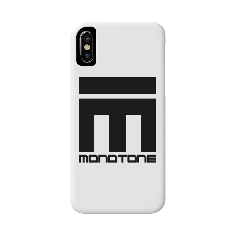 Monotone Logo Black Large Accessories Phone Case by Monotone Apparel