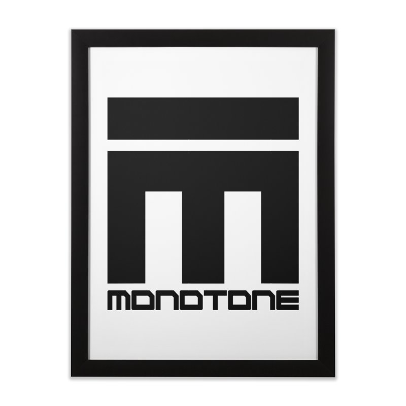 Monotone Logo Black Large Home Framed Fine Art Print by Monotone Apparel